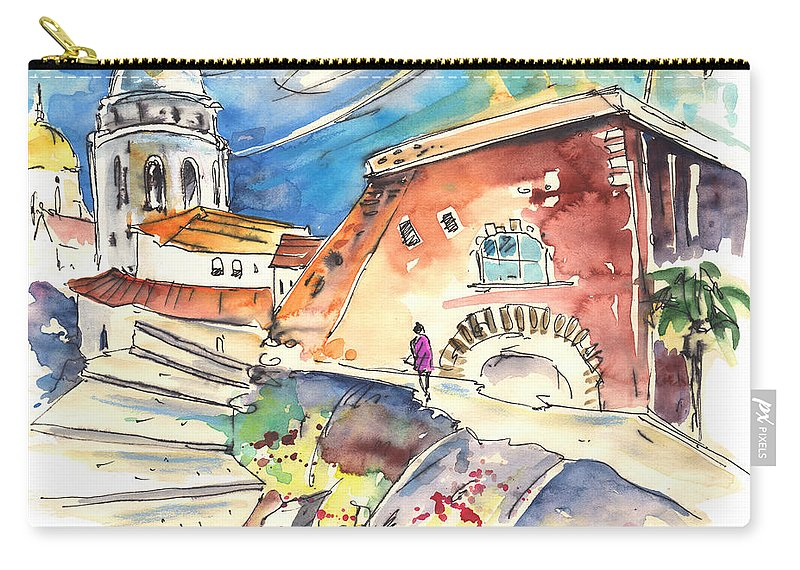 Travel Carry-all Pouch featuring the painting Cadiz Spain 03 by Miki De Goodaboom