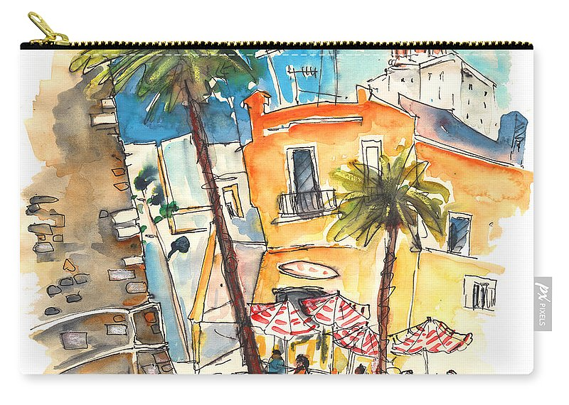 Travel Carry-all Pouch featuring the painting Cadiz Spain 04 by Miki De Goodaboom