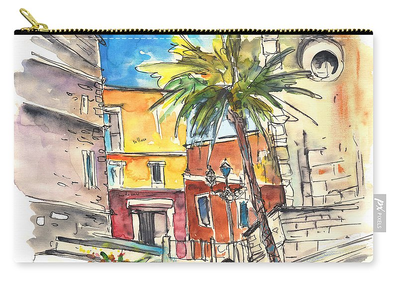 Travel Carry-all Pouch featuring the painting Cadiz Spain 05 by Miki De Goodaboom