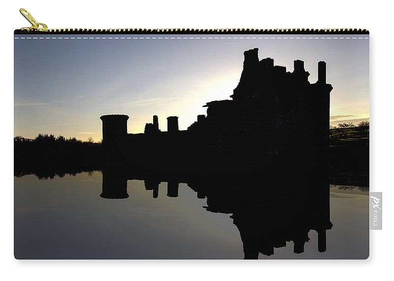 Caerlaverock Castle Carry-all Pouch featuring the photograph Caerlaverock Castle - 6 by Paul Cannon