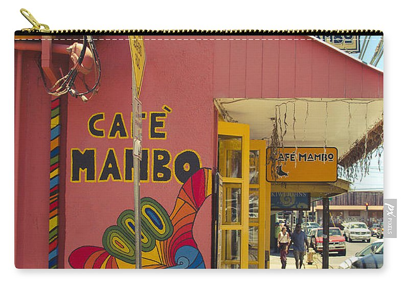 Carry-all Pouch featuring the photograph Cafe Mambo Paia Maui Hawaii by Sharon Mau