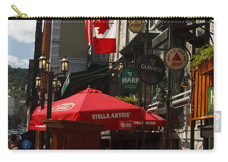 Travel Carry-all Pouch featuring the photograph Cafes And Bars Along Crescent Street by Jason O Watson