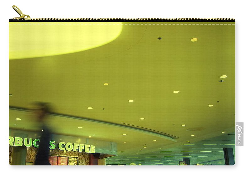 Airport Terminal Carry-all Pouch featuring the photograph Caffe On The Fly by Kathleen Grace