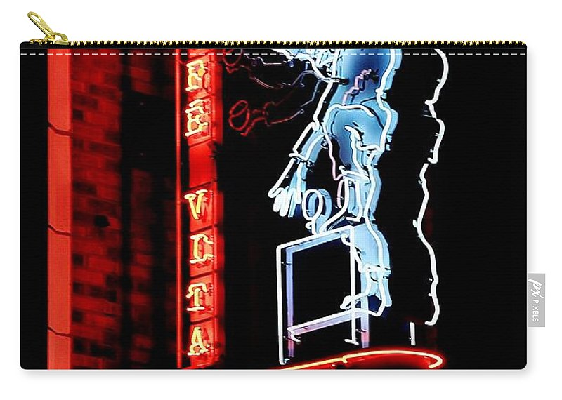 Neon Carry-all Pouch featuring the photograph Caffe Vita Coffee Roasting Co by Benjamin Yeager