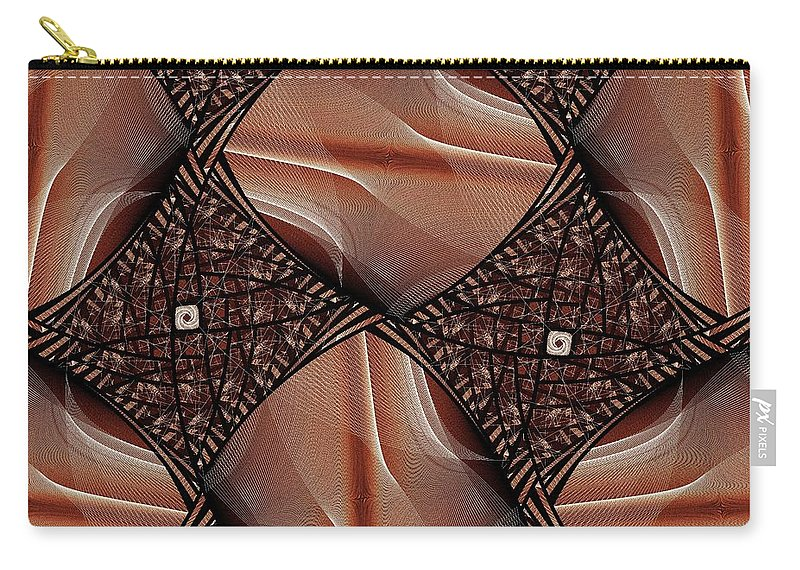 Cup Carry-all Pouch featuring the digital art Caffeinated by Anastasiya Malakhova