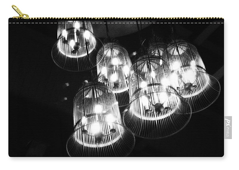 Lights Carry-all Pouch featuring the photograph Caged Lights by Kaleidoscopik Photography