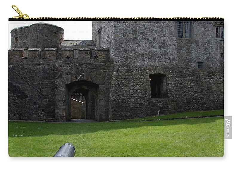 Cahir Castle Carry-all Pouch featuring the photograph Cahir Castle Yard by Christiane Schulze Art And Photography