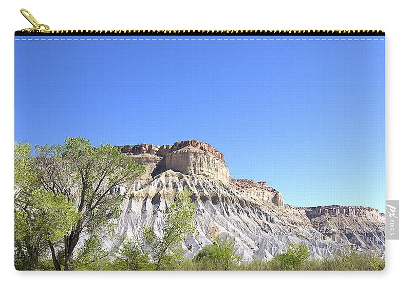Caineville Carry-all Pouch featuring the photograph Caineville Mesa Caineville Utah by Peter Lloyd