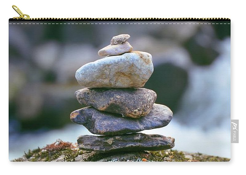 Cairn Carry-all Pouch featuring the photograph Cairn by Bill Cannon