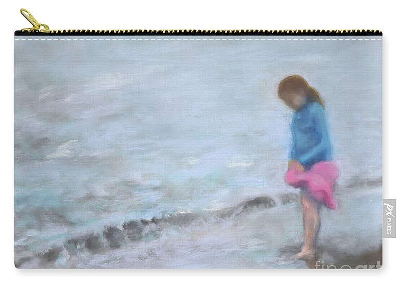 Beach Carry-all Pouch featuring the painting Cait At Dugan's Cove by Vicki Baun Barry