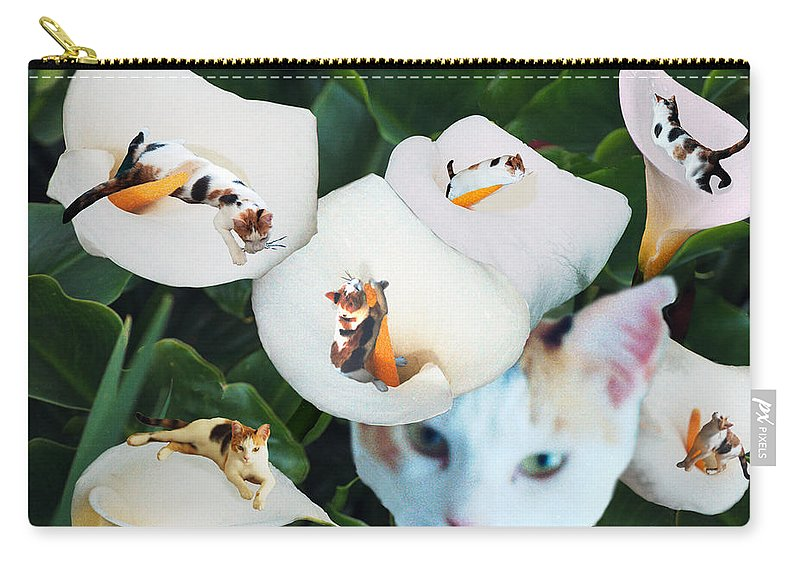 Cat Carry-all Pouch featuring the digital art Cala In Callas by Lisa Yount