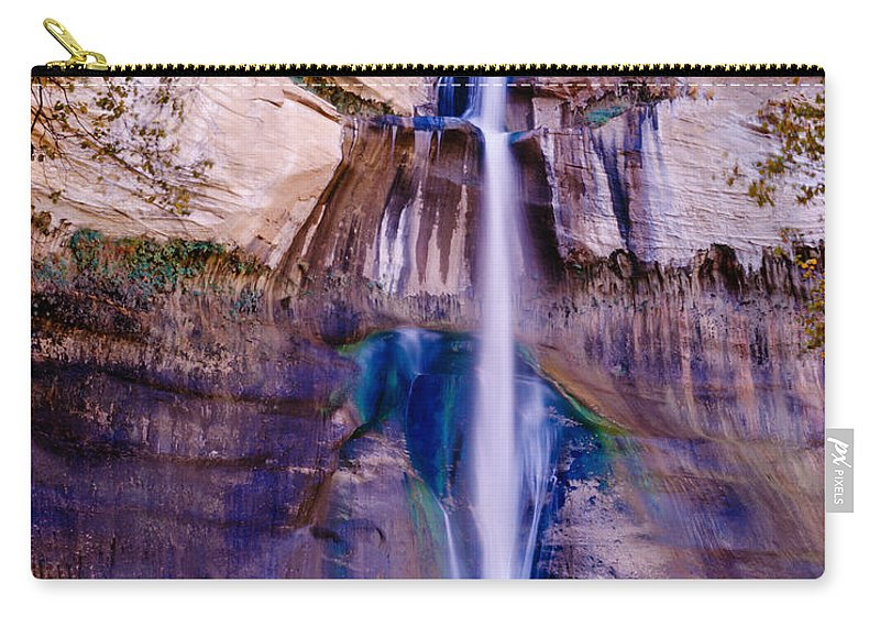Calf Creek Falls Carry-all Pouch featuring the photograph Calf Creek Falls by Tracy Knauer