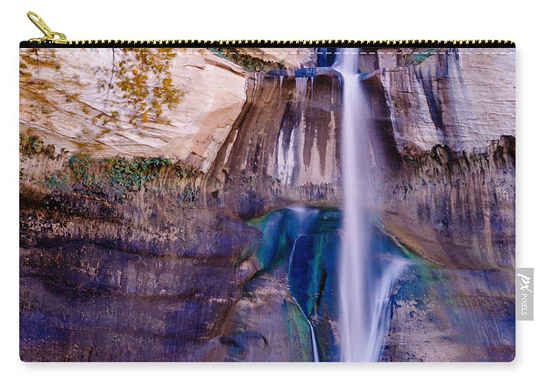 Calf Creek Falls Carry-all Pouch featuring the photograph Calf Creek Falls 2 by Tracy Knauer