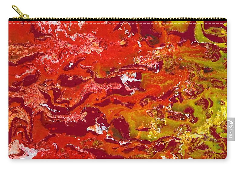 Fusionart Carry-all Pouch featuring the painting Caliente by Ralph White