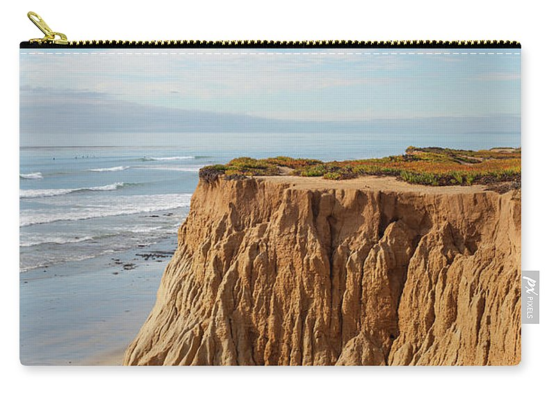 Water's Edge Carry-all Pouch featuring the photograph California Coast by Bill Oxford