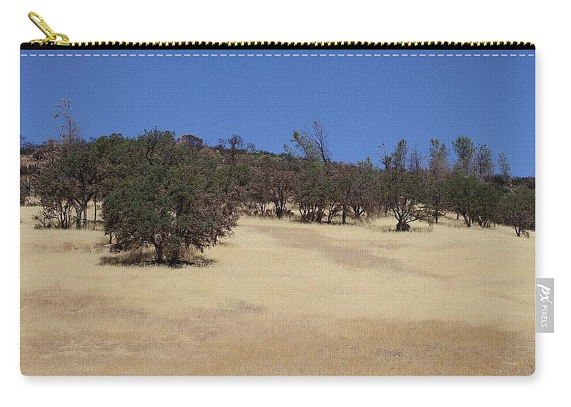California Grass And Oak Trees Carry-all Pouch featuring the photograph California Grass And Oak Trees by Tom Janca