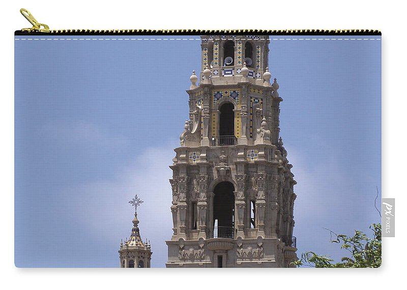 California Tower Carry-all Pouch featuring the photograph California Tower, Balboa Park, San Diego, California by Denise Strahm