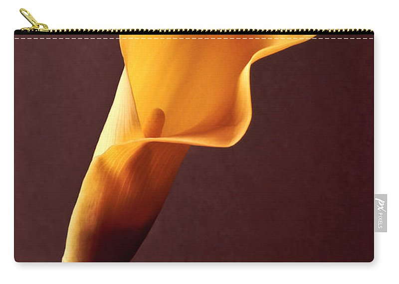 Calla Lily Carry-all Pouch featuring the photograph Calla Lily by Liz Leyden