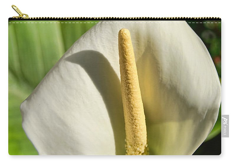 Calla Carry-all Pouch featuring the photograph Calla Lily by Susie Peek