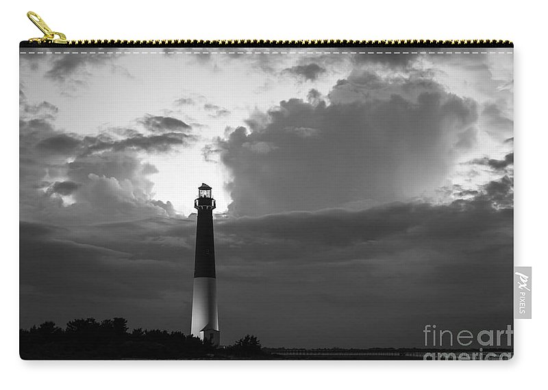Barnegat Lighthouse Carry-all Pouch featuring the photograph Calm Before The Storm by Michael Ver Sprill