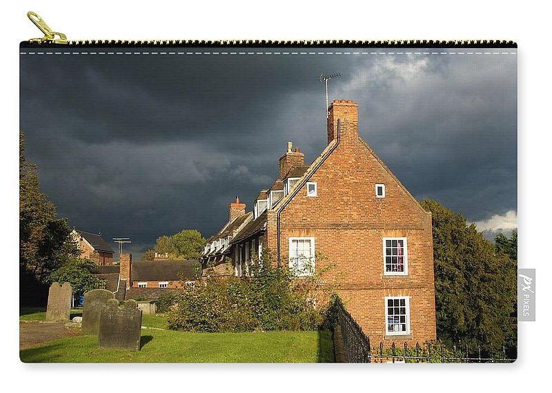 Cottage Carry-all Pouch featuring the photograph Calm Before The Storm by Ron Harpham