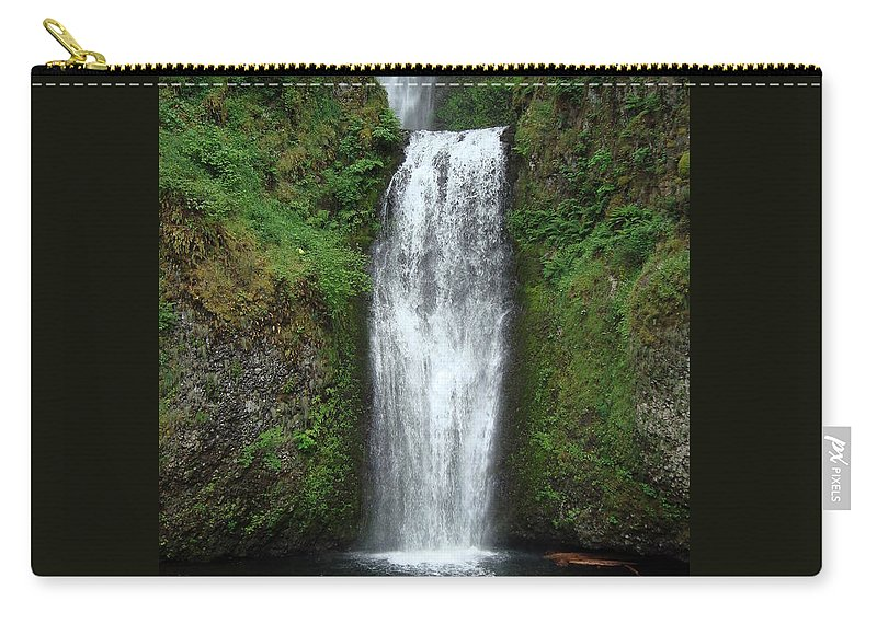 Waterfall Carry-all Pouch featuring the photograph Calm Multnomah Falls by K Conway