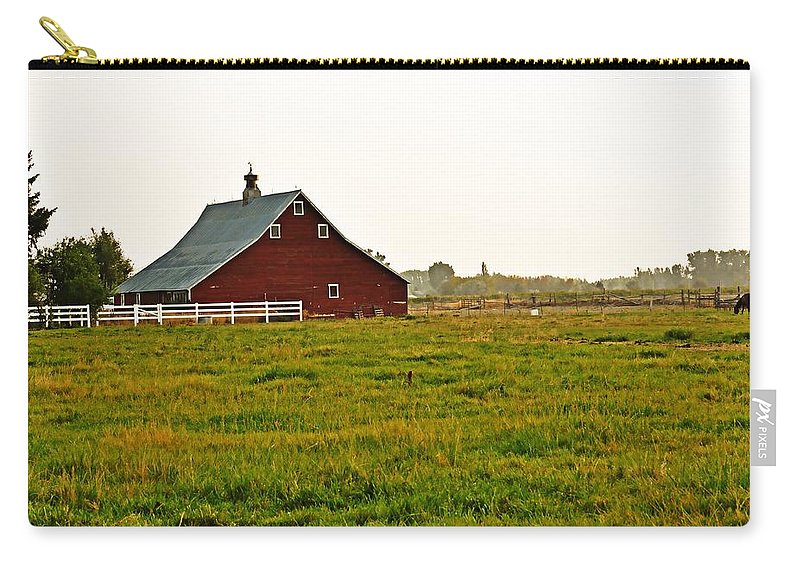 Barn Carry-all Pouch featuring the photograph Calm Of The Morning by Image Takers Photography LLC - Laura Morgan