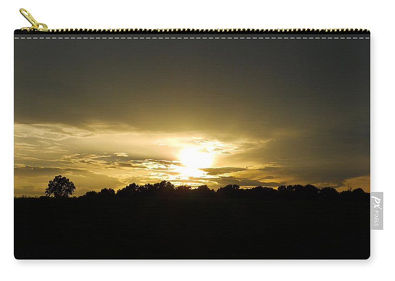 Sunset Carry-all Pouch featuring the photograph Calming Sunset by Nick Kirby