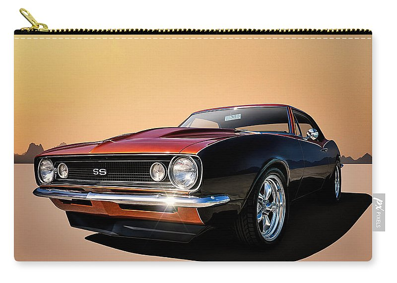 Camaro Carry-all Pouch featuring the digital art Camaro Ss by Douglas Pittman