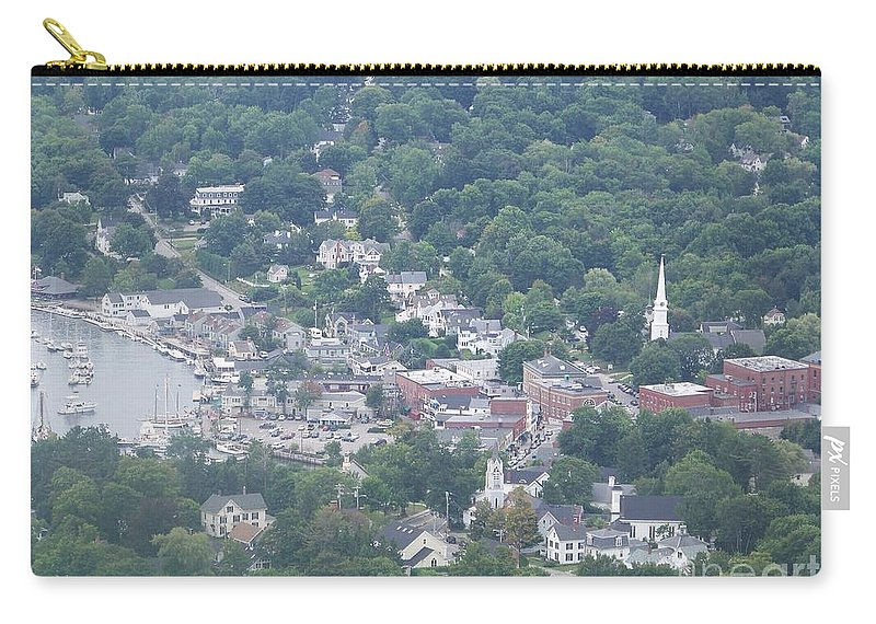 Camden Harbor Carry-all Pouch featuring the photograph Camden Harbor 2381 by Joseph Marquis