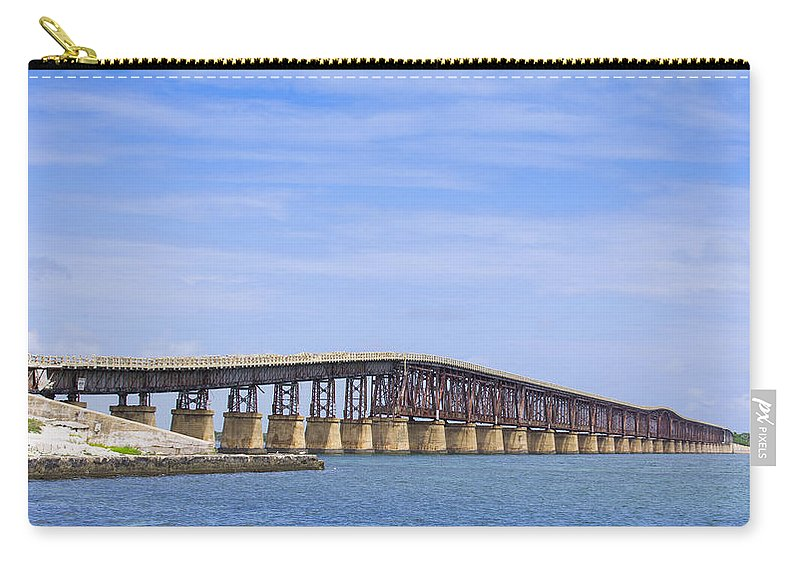 Architecture Carry-all Pouch featuring the photograph Camelback Bridge by John M Bailey