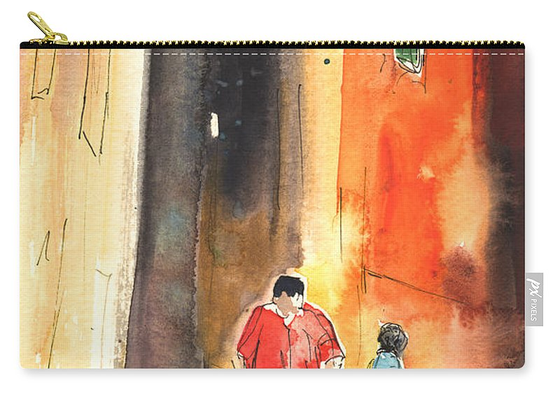 Italy Carry-all Pouch featuring the painting Camogli In Italy 07 by Miki De Goodaboom