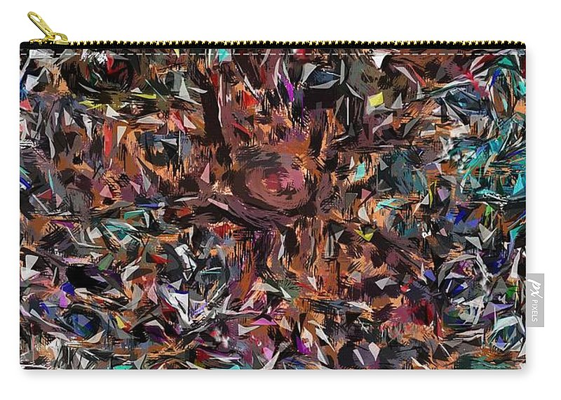 Camouflaged Carry-all Pouch featuring the digital art Camouflaged by David Lane