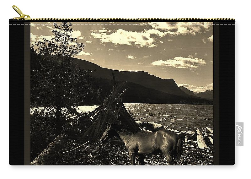 Western Carry-all Pouch featuring the photograph Camp Site by Barbara St Jean