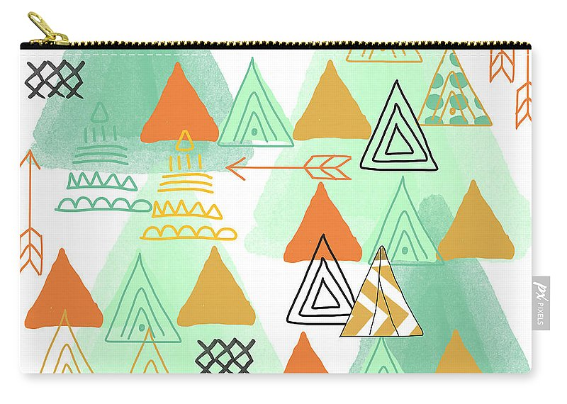 Teeepee Carry-all Pouch featuring the painting Camping by Linda Woods