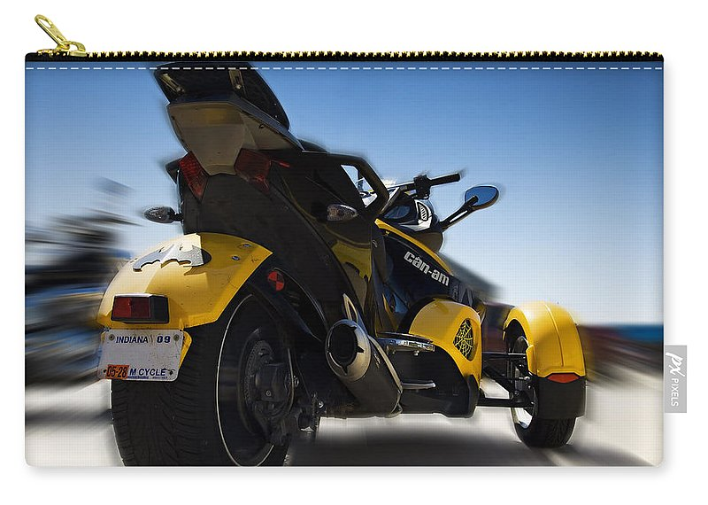 Am Carry-all Pouch featuring the photograph Can-am Spyder by Ricky Barnard