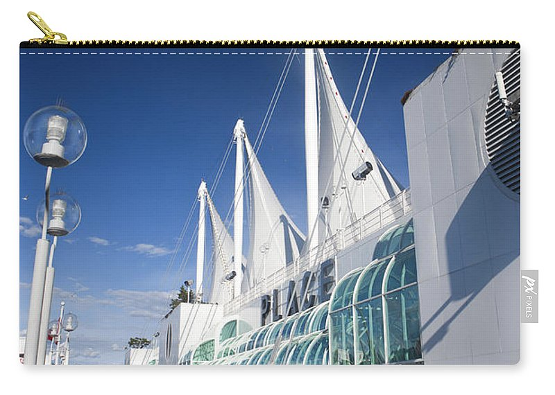 Travel Carry-all Pouch featuring the photograph Canada Place Vancouver by Jason O Watson