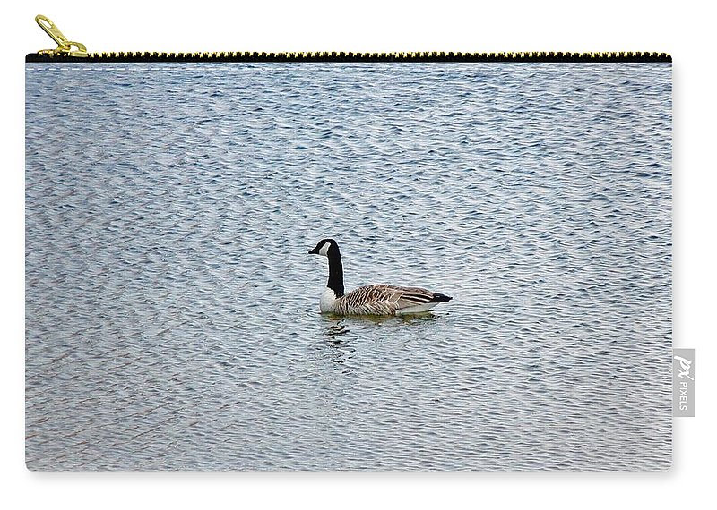 Fowl Carry-all Pouch featuring the photograph Canadian Goose 2 by Scenic Sights By Tara