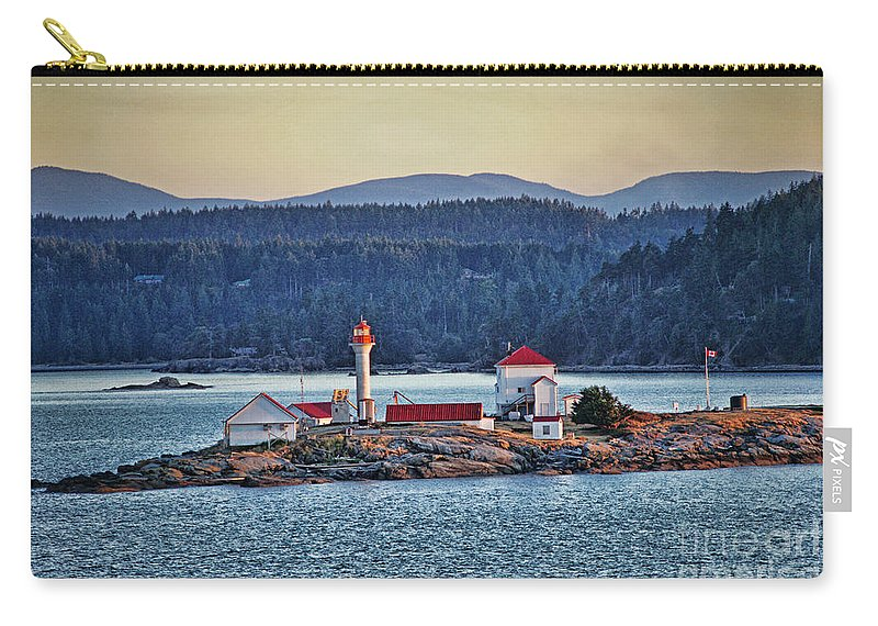 Oceans Carry-all Pouch featuring the photograph Canadian Lighthouses Sc3415-13 by Randy Harris