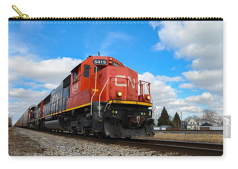 Canadian National Carry-all Pouch featuring the photograph Canadian National by Gales Of November