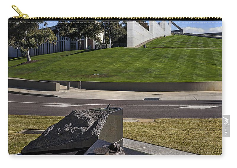 Australia Carry-all Pouch featuring the photograph Canberra - Memorial And Parliament House by Steven Ralser