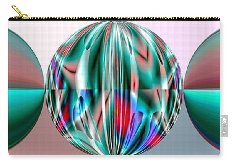 Circles Carry-all Pouch featuring the digital art Cancer by John Holfinger