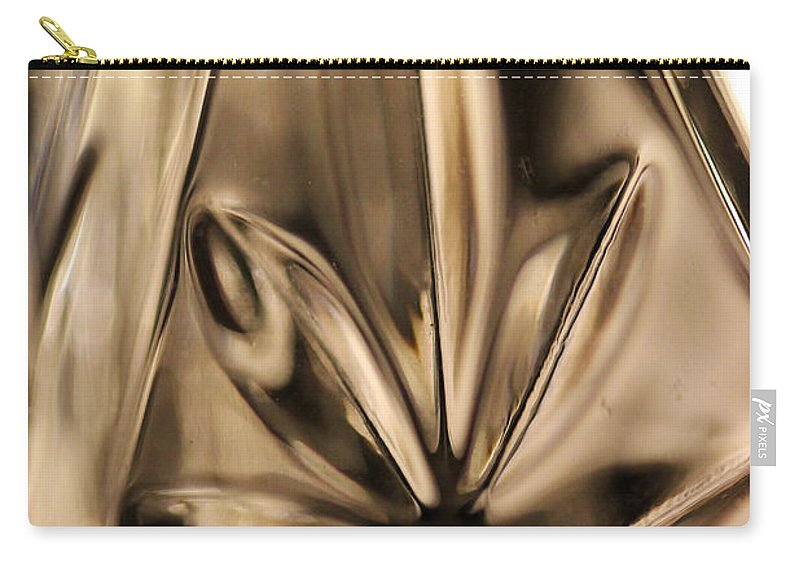 Crystal Carry-all Pouch featuring the photograph Candle Holder 4 by Mary Bedy