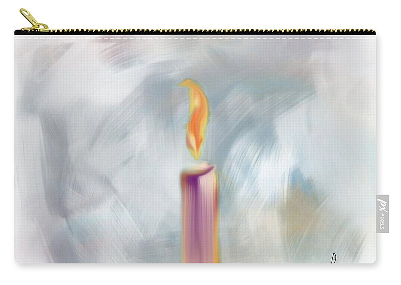 Ipad Art Carry-all Pouch featuring the digital art Candle In The Morning by Frank Bright