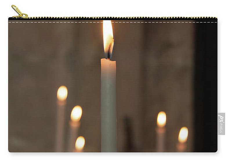 Burning Carry-all Pouch featuring the photograph Candles by Martine Roch