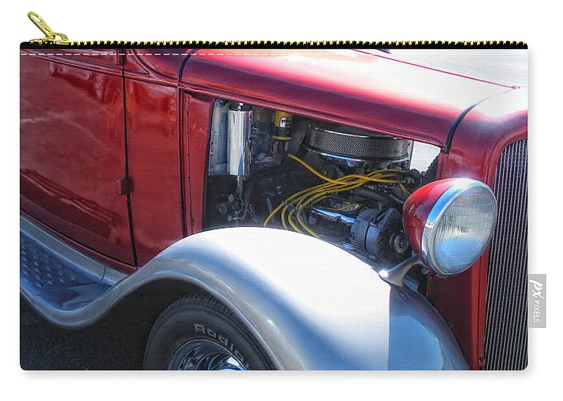 Old Truck Carry-all Pouch featuring the photograph Candy Apple by Donna Blackhall