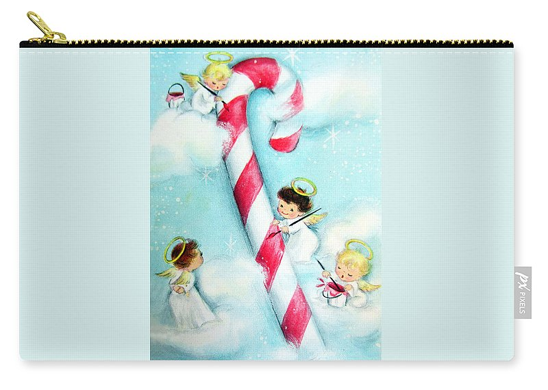 Candy Carry-all Pouch featuring the photograph Candy Cane by Munir Alawi