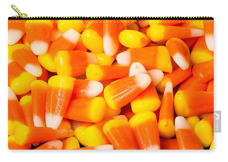 Allhallows Eve Carry-all Pouch featuring the photograph Candy Corn by John Trax