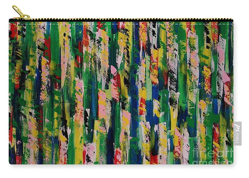 Abstract Carry-all Pouch featuring the painting Candy Crush by Wayne Cantrell