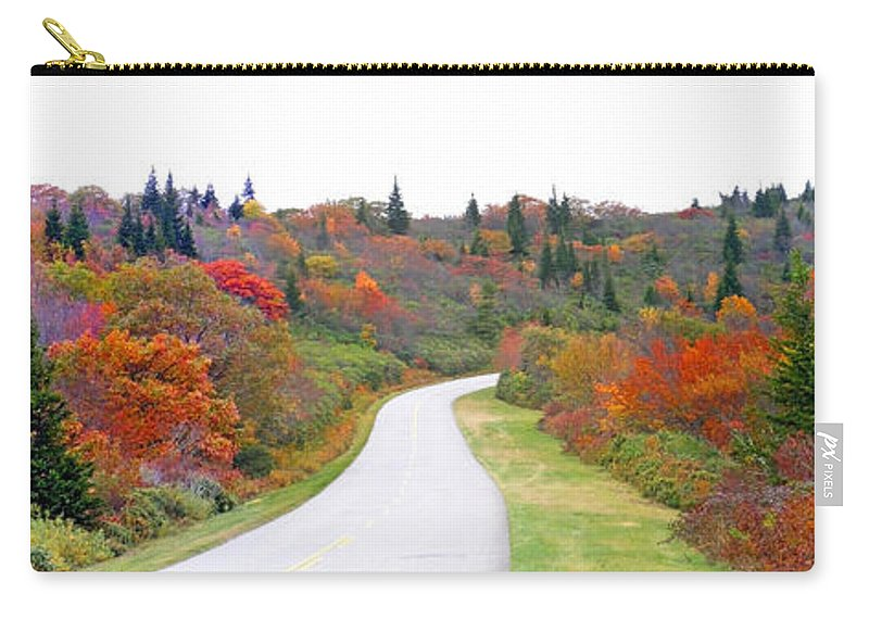Landscapes Carry-all Pouch featuring the photograph Candy Land On The Blueridge Parkway by Duane McCullough